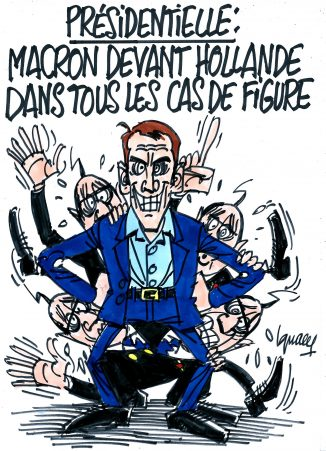 Ignace - Macron devant Hollande