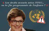 8 octobre 2016 à Meylan : conférence de Marion Sigaut sur «Les droits sexuels selon l'ONU ou la fin programmée de l'enfance»