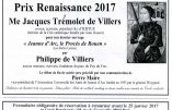 1er février 2017 : Dîner de gala du Cercle Renaissance