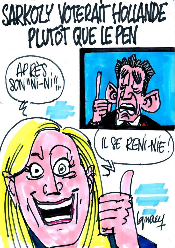 Ignace - Sarkozy voterait Hollande plutôt que Le Pen
