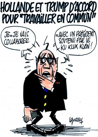 "Ignace - Hollande et Trump veulent ""travailler en commun"""