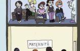 Avortement : un dessin destiné à Marine Le Pen