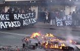 Des barricades d'extrême gauche dans les rues de Copenhague pour bloquer une manifestation de Pegida