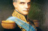 La prestation de serment de Garcia Moreno, Président de la République d'Equateur