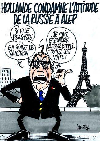 Ignace - Hollande condamne l'attitude de la Russie