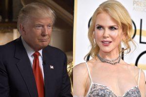 L'actrice Nicole Kidman soutient Trump