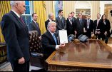 Etats-Unis : spectaculaire arrêt mondial à la culture de mort par Donal Trump