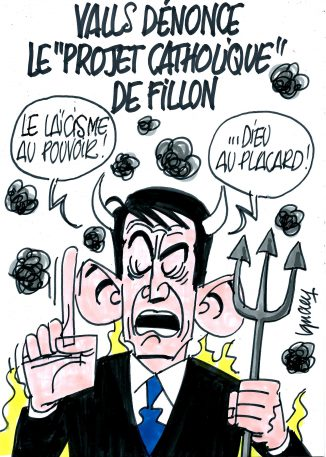 """Ignace - Valls dénonce le """"projet catholique"""" de Fillon"""