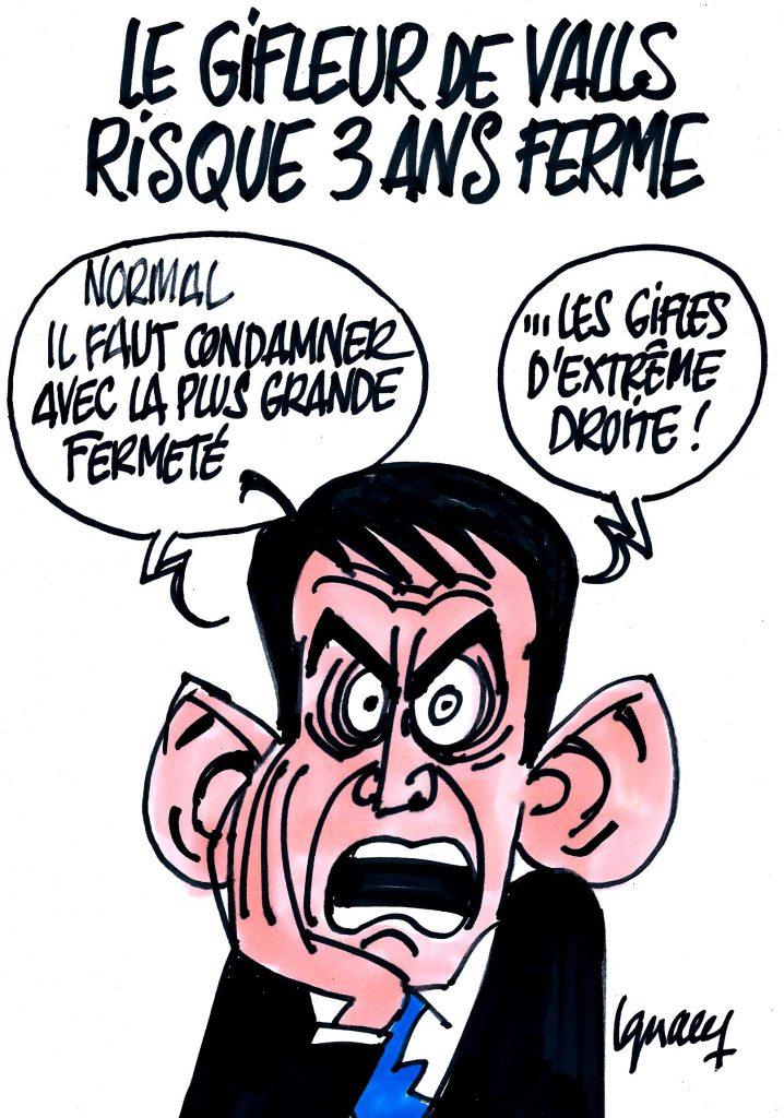 Ignace - Le gifleur de Valls risque 3 ans ferme