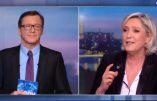 En direct au JT de TF1, Marine Le Pen arrache le masque de l'institut Montaigne, émanation de la haute finance qui téléguide Macron