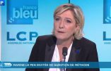 Marine Le Pen  fait le tour de l'actualité sur Public Sénat le 2 mars 2017 et répond aux questions brûlantes