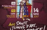 Le dimanche 14 mai, venez nombreux rendre hommage à sainte Jeanne d'Arc, celle qui sauva notre patrie