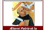20 mars 2017 à Paris – Conférence «AEterni Patris et la philosophie chrétienne» (abbé Chautard)