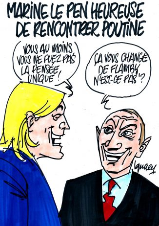 Ignace - Marine Le Pen rencontre Poutine