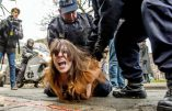 Des Femen arrêtées en voulant entrer dans le bureau de vote de Marine Le Pen
