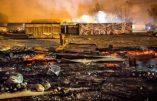Une rixe entre clandestins provoque un immense incendie dans le camp de Grande-Synthe