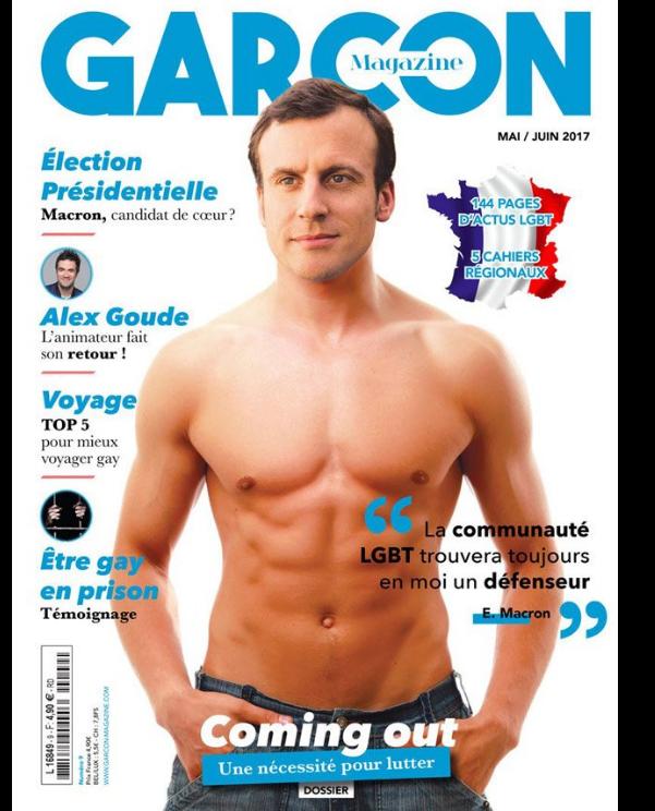 Emmanuel Macron fait la Une du magazine gay