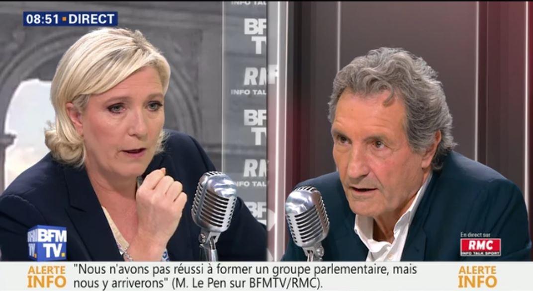 Marine Le Pen craint la disparition de la démocratie et aborde les différents sujets d'actualité – Interview du 28 juin 2017