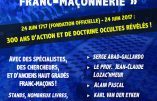 24 juin 2017 – Colloque «Le vrai visage de la franc-maçonnerie»