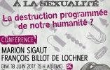 18 juin 2017 à Paris – Conférence de Marion Sigaut et François Billot de Lochner au Théâtre de la Main d'Or