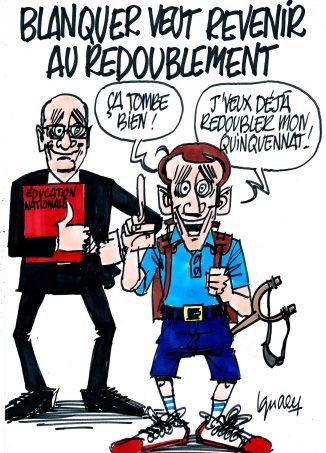 Ignace - Blanquer pour le redoublement à l'école