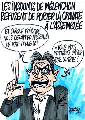 Ignace - Mélenchon insoumis et sans cravate