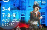 Du 3 au 9 août 2017 : scénographie vendéenne à Olonne-sur-Mer