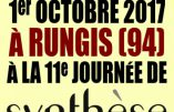 1er octobre 2017 à Rungis – 11e Journée de Synthèse Nationale