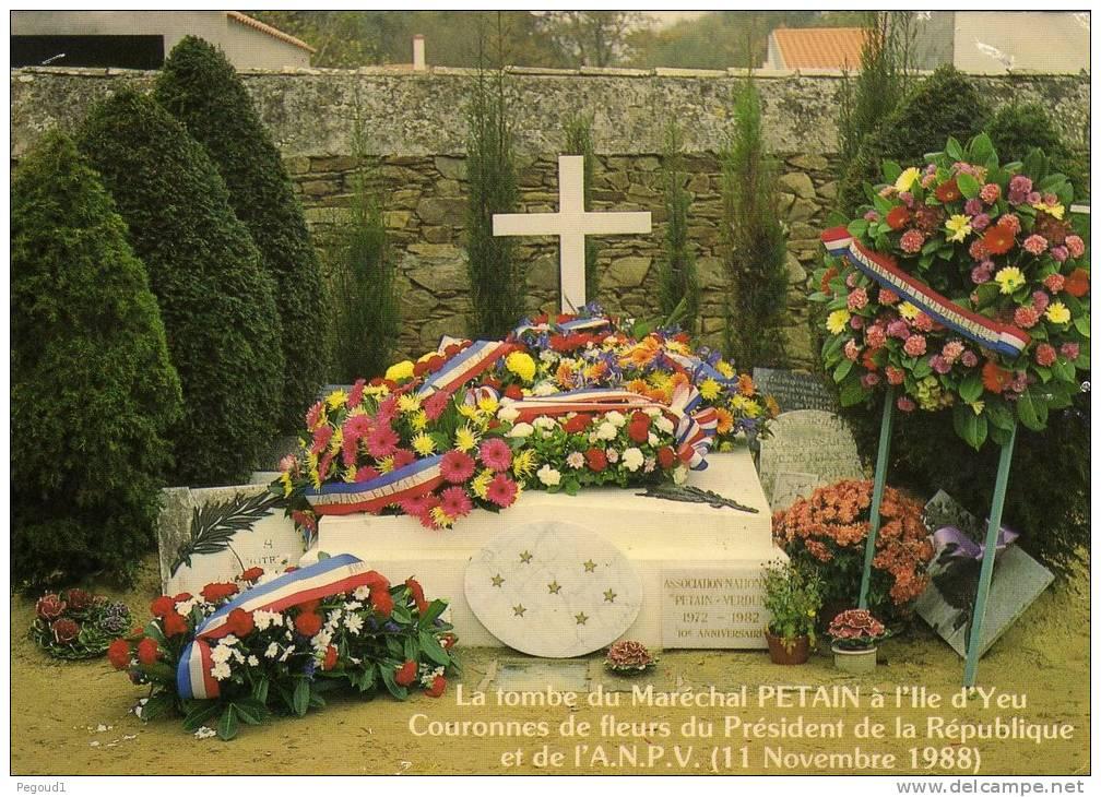 La tombe du maréchal Pétain vandalisée — Ile d'Yeu