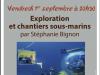 1er septembre 2017 à Marcigny – Conférence de Stéphanie Bignon «Exploration et chantiers sous-marins»