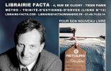 30 septembre 2017 – Patrick Gofman dédicace à la librairie Facta