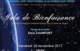 Le chanteur Alain Chamfort en parrain d'un gala de bienfaisance franc-maçon