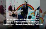Dans la Bibliothèque Michelle Obama, c'est un démon drag queen qui lit des histoires LGBT aux enfants