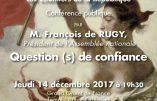 La franc-maçonnerie reçoit François de Rugy, Président de l'Assemblée nationale