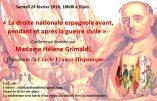 24 février 2018 à Dijon  – «La droite nationale espagnole avant, pendant et après la guerre civile»