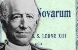 Etude de l'encyclique Rerum Novarum (1)