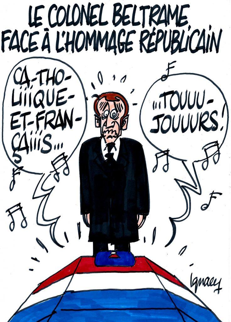Ignace - Le colonel Beltrame face à l'hommage républicain