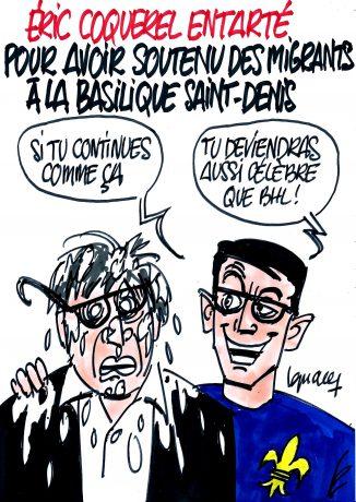 Ignace - Éric Coquerel entarté