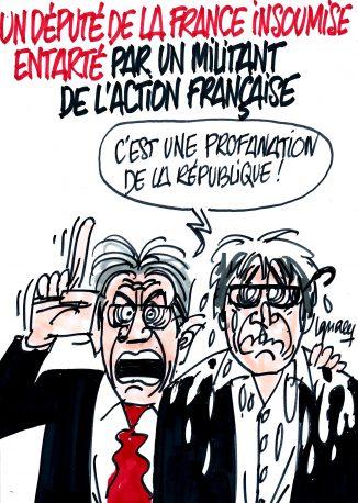Ignace - Député de la France insoumise entarté
