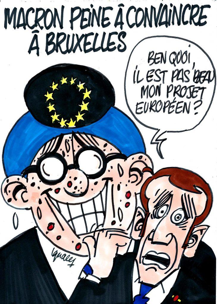 Ignace - Macron peine à convaincre à Bruxelles