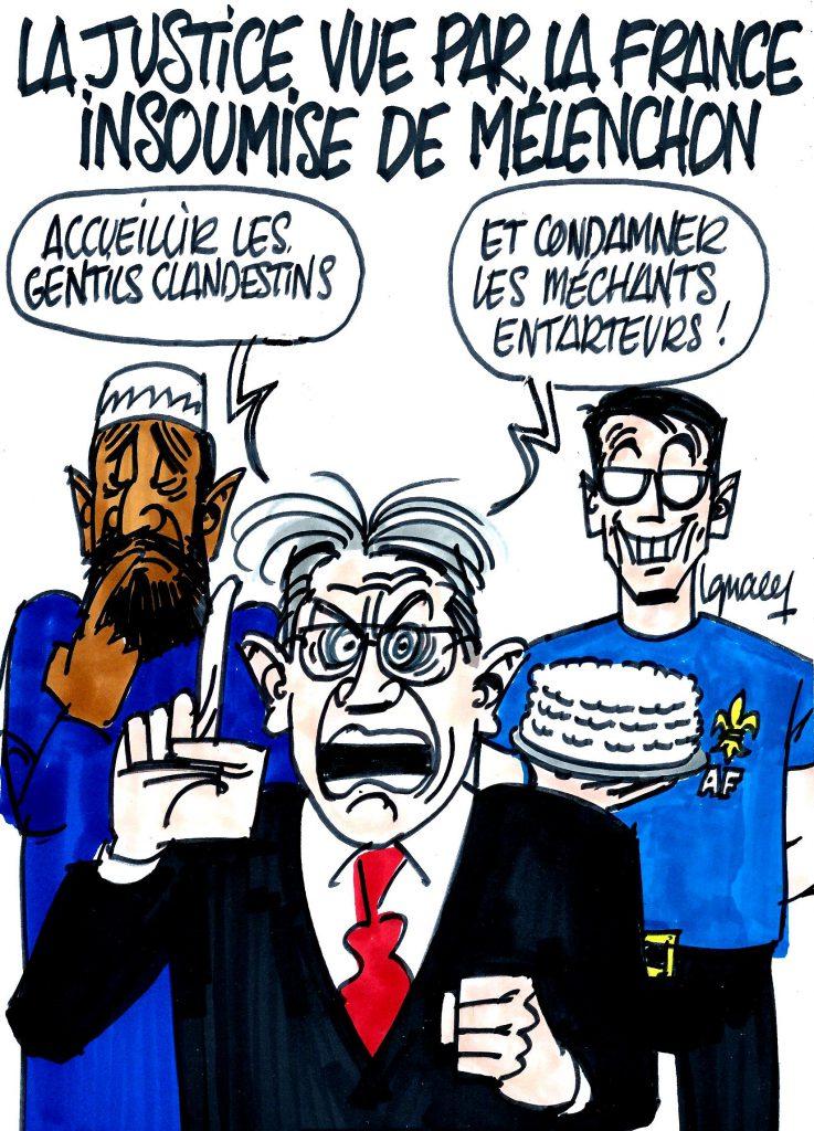Ignace - La justice vue par Mélenchon