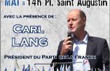Le 13 mai 2018, retrouvez Carl Lang et le PDF à l'hommage à sainte Jeanne d'Arc