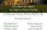 24 juin 2018 – Lire dans les vignes…