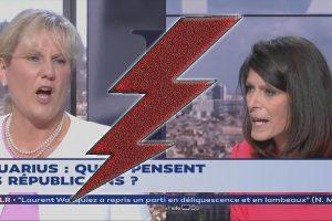 Nadine Morano face à trois journalistes pro-immigration