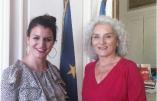 Marlène Schiappa au centre d'une réunion maçonnique de laGrande Loge Féminine de France