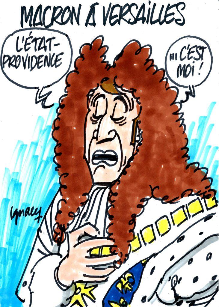 Ignace - Macron à Versailles