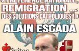 Préférence nationale et remigration sont des solutions catholiques, contrairement au suicide civilisationnel promu par François