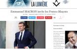 Ce mercredi, Macron reçoit la franc-maçonnerie à l'Elysée