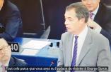 Sublime Nigel Farage en défenseur du bon droit de Viktor Orban devant le Parlement européen