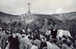 Images d'archives – La dépouille de José Antonio Primo de Rivera arrive à la Vallée de los Caidos (29 mars 1959)